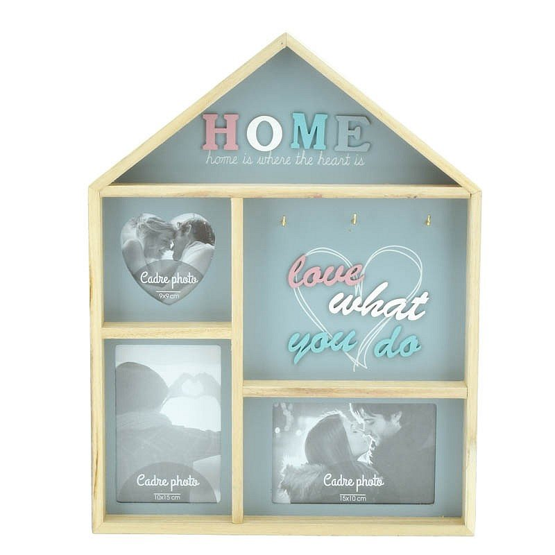 Cadre photo et porte clef 'Love is home'