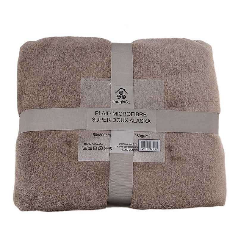 Plaid microfibre super doux Alaska