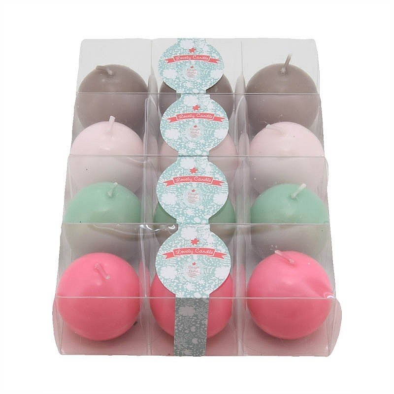 3 bougies rondes pastel 'Lovely Candle'