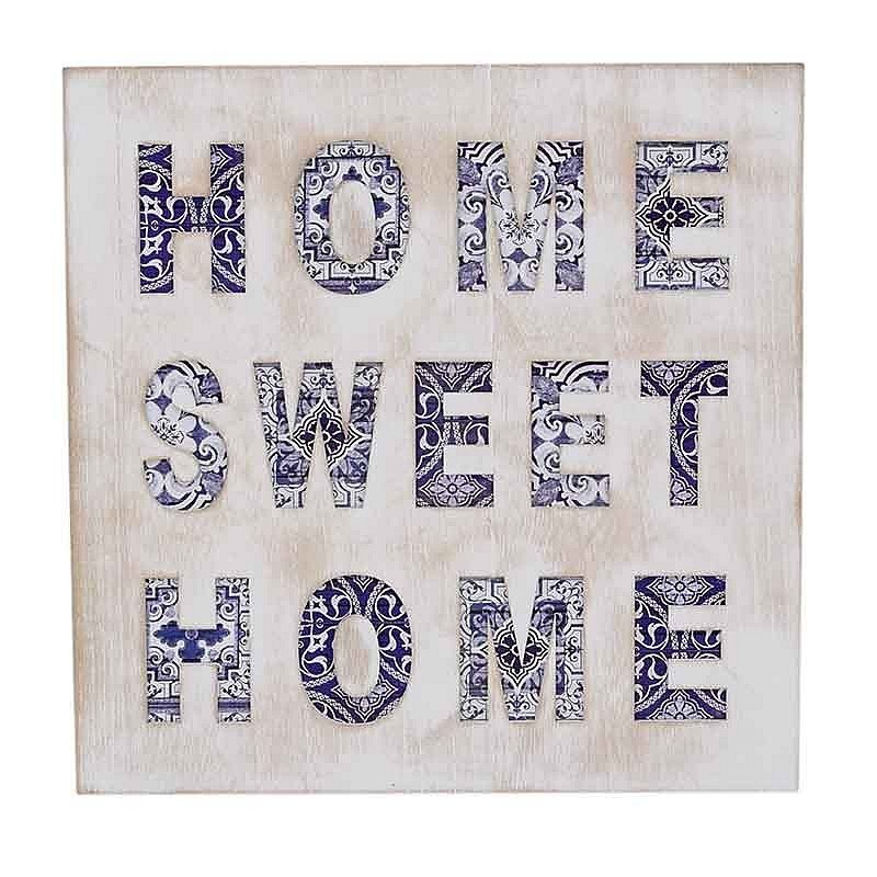 Cadre Home Sweet Home 'Azulejos'