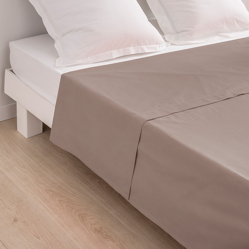Drap plat 'Dream' taupe