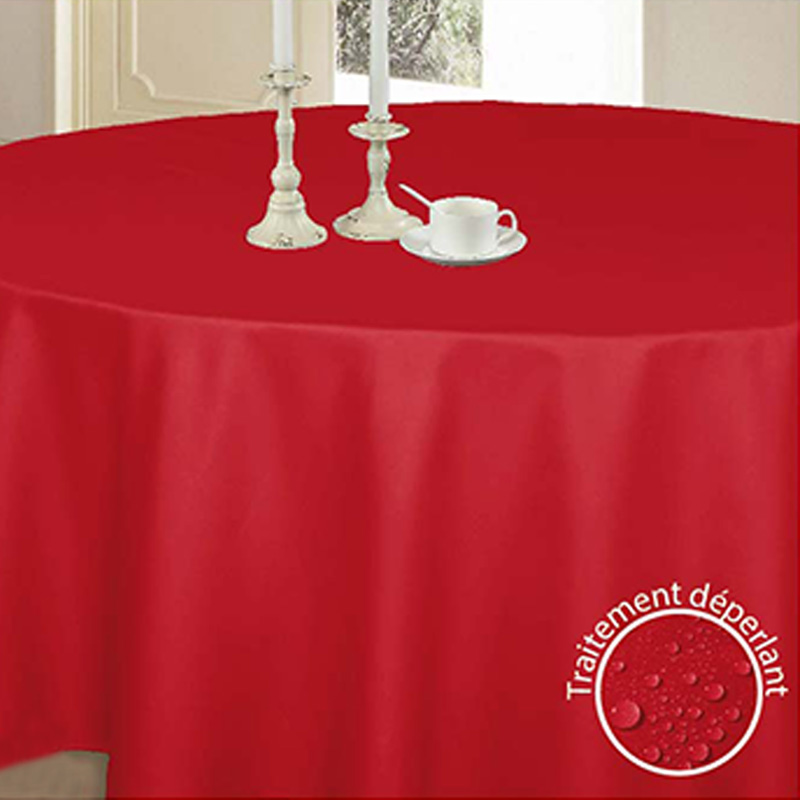 Nappe ronde 'Glory' rouge