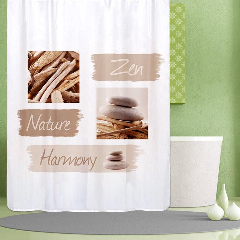 Rideau de douche tissu \'Harmonie\' - L\'Incroyable