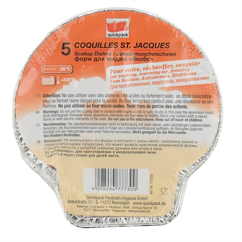 Plat coquille St-Jacques