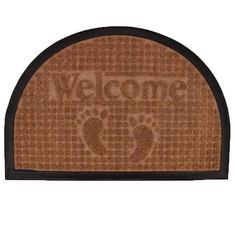 Tapis d'entré demi-lune Welcome