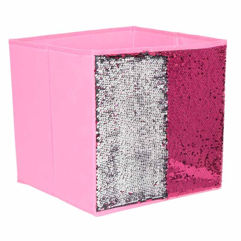 Cube de rangement sequin en tissu - L'Incroyable