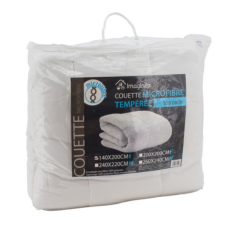 Couette microfibre 350g/m² 1pers