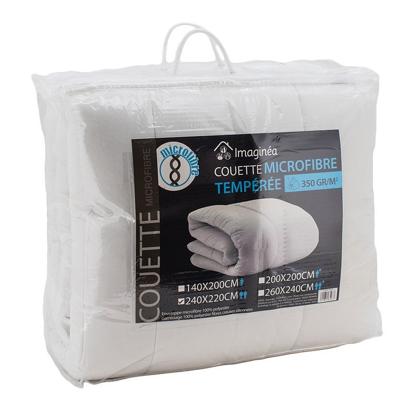Couette microfibre 350g/m² 2 pers