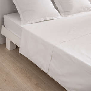 Drap plat 'Dream' blanc