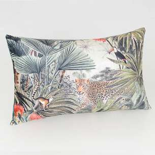 Coussin velours 'Jungle'
